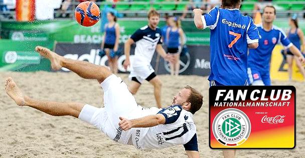 Beachsoccer-Turnier der Fan Club Nationalmannschaft powered by Coca-Cola