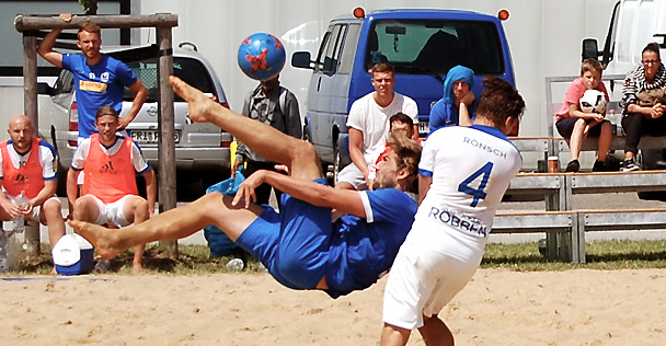 Die German Beachsoccer League bei hansebeach